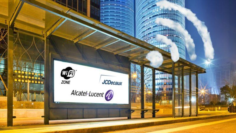 Partenariat JC Decaux et Alcatel-Lucent, vers le mobilier urbain connecté