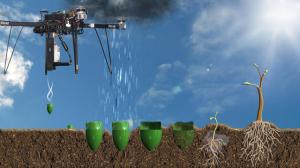 Le drone propulsera une graine directement dans le sol