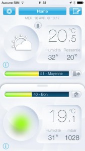 L'application de la station météo connectée