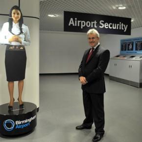 Hologramme à l'aéroport