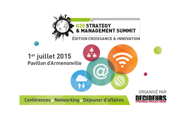 G20 Strategy & Management Summit : Croissance et Innovation à Paris 1/2