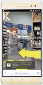 Navigation VPS dans un magasin